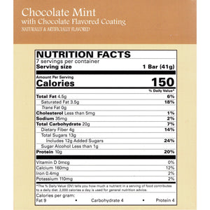 Weight Loss Systems Protein Snack Bars - Chocolate Mint, 7 Bars/Box - Nashua Nutrition