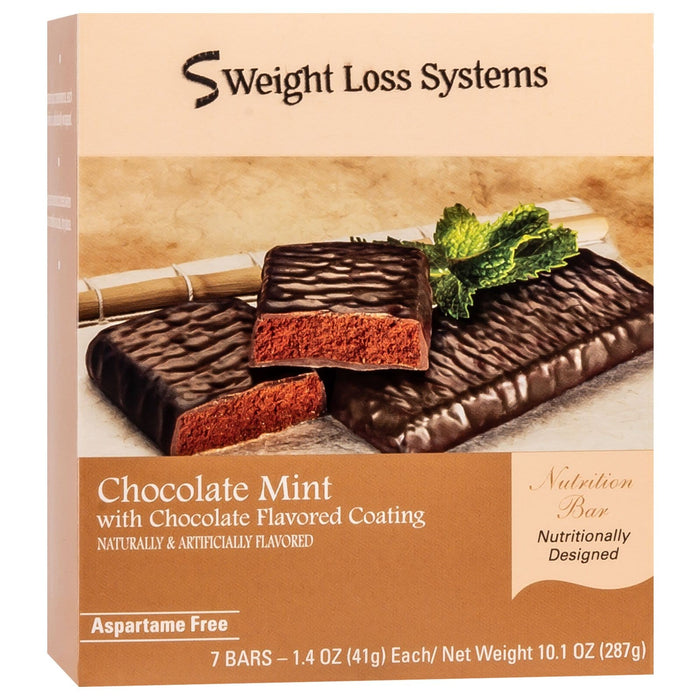 Weight Loss Systems Protein Snack Bars - Chocolate Mint, 7 Bars/Box