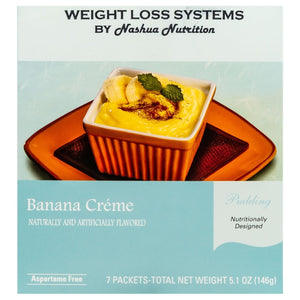 Weight Loss Systems Pudding - Banana Creme - 7/Box