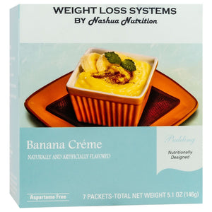 Weight Loss Systems Pudding - Banana Creme - 7/Box - Nashua Nutrition
