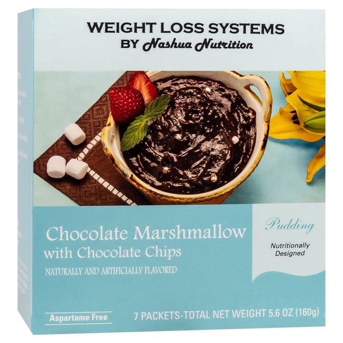 Weight Loss Systems Pudding - Chocolate Marshmallow with Chocolate Chips - 7/Box