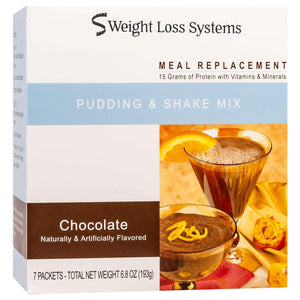 Weight Loss Systems Pudding & Shake - Chocolate - 7/Box - Nashua Nutrition