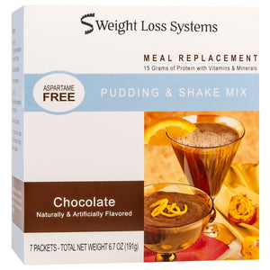 Weight Loss Systems Pudding & Shake - Chocolate - Aspartame Free - 7/Box
