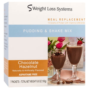 Weight Loss Systems Pudding & Shake - Chocolate Hazelnut - 7/Box