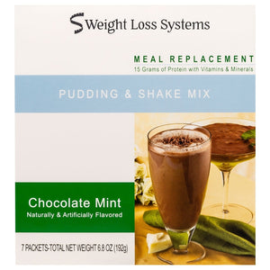Weight Loss Systems Pudding & Shake - Chocolate Mint - 7/Box - Nashua Nutrition