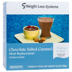 Weight Loss Systems Pudding & Shake - Chocolate Salted Caramel - Aspartame Free - 7/Box - Nashua Nutrition
