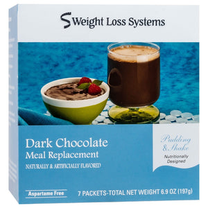 Weight Loss Systems Pudding & Shake - Dark Chocolate - 7/Box