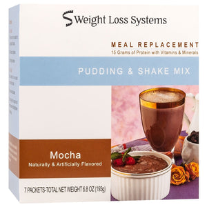 Weight Loss Systems Pudding & Shake - Mocha -  7/Box