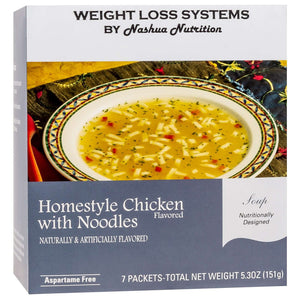 Weight Loss Systems Soup - Homestyle Chicken with Noodles - 7/Box-Nashua Nutrition