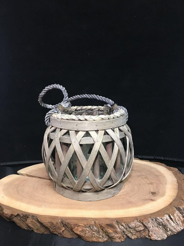 Willow Votive Lantern w/ Glass