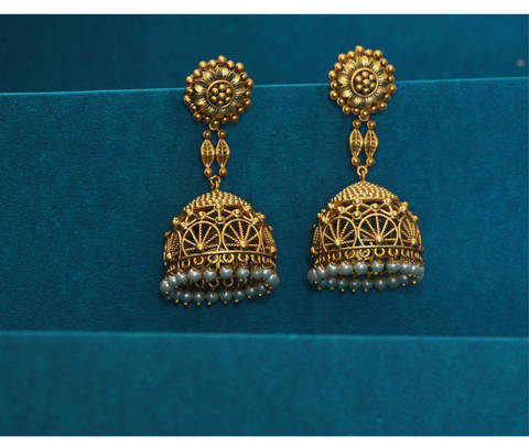 Pusp Antique Jhumka Earrings