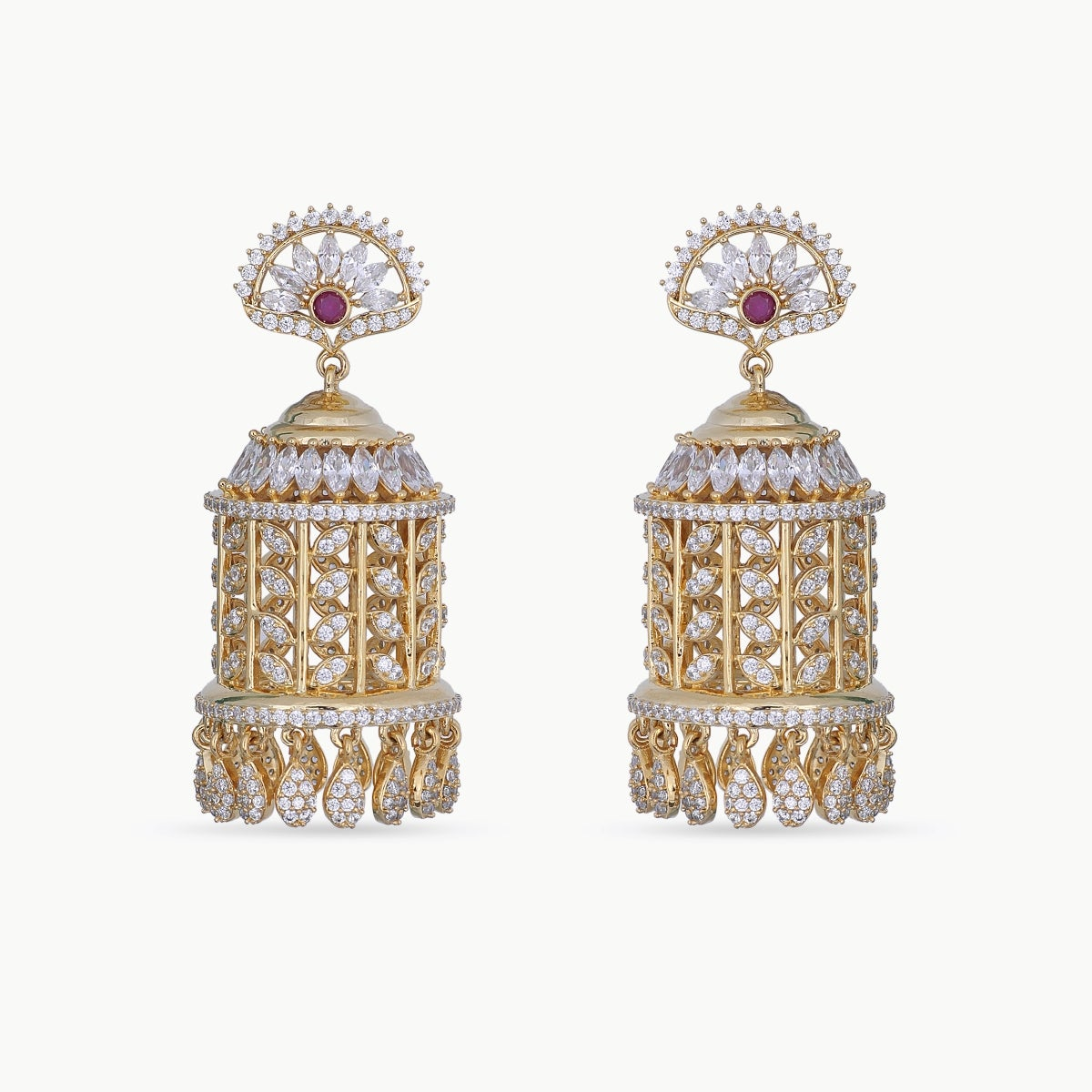 Kayra Nakshatra CZ Earrings