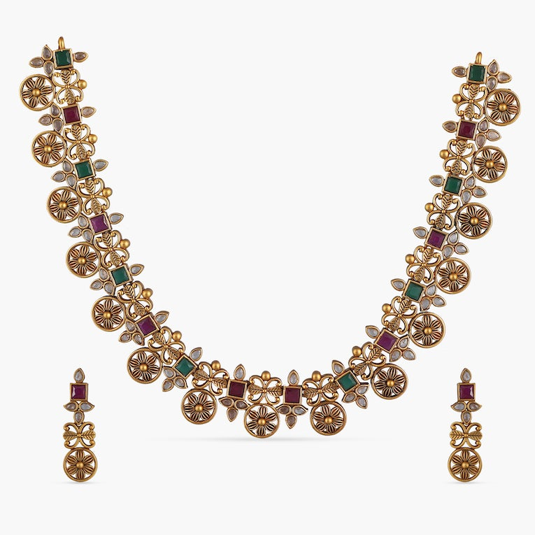 Durva Antique Necklace Set