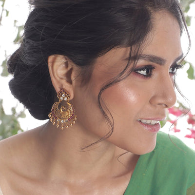 Meena Kundan Earrings by Tarinika