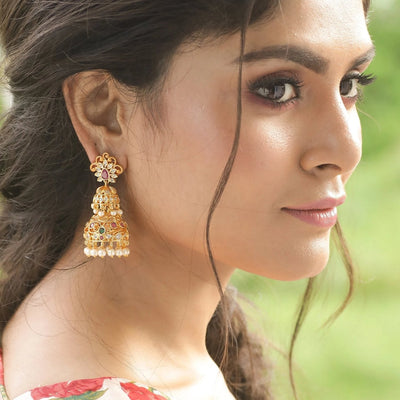 Tripur Jhumka Earrings