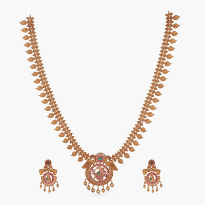 Daisy Antique Long Necklace Set