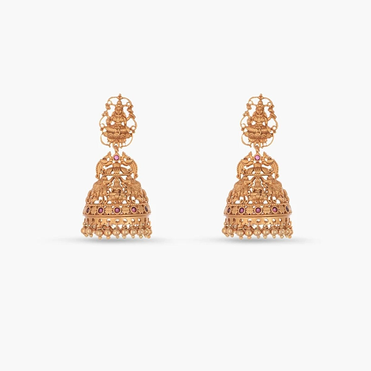 Aachal Antique Jhumka Earrings