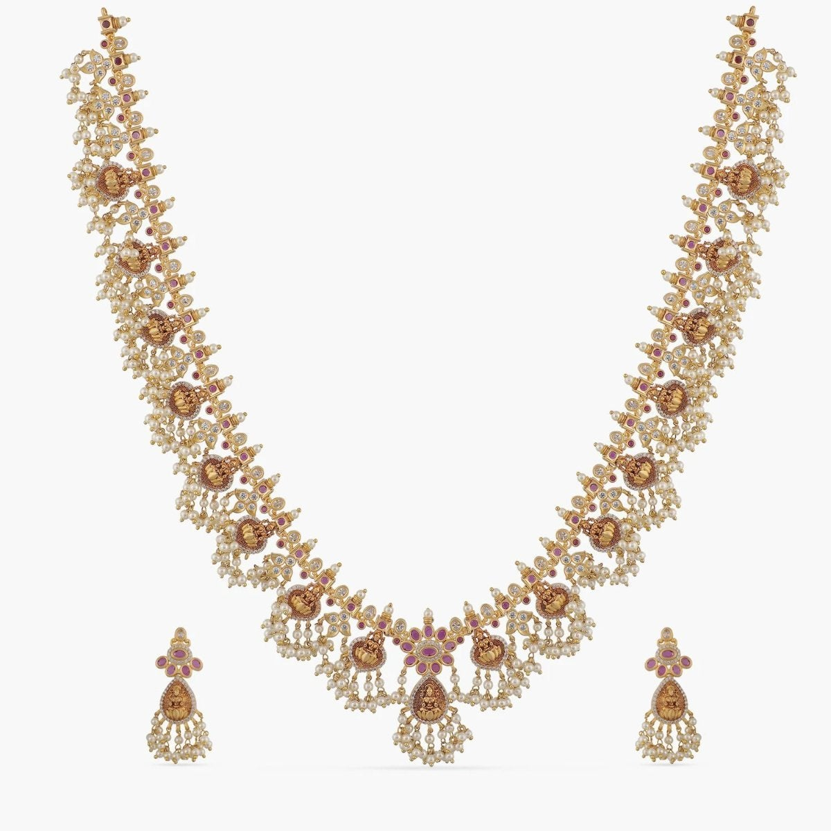 Laasya Antique Long Necklace Set