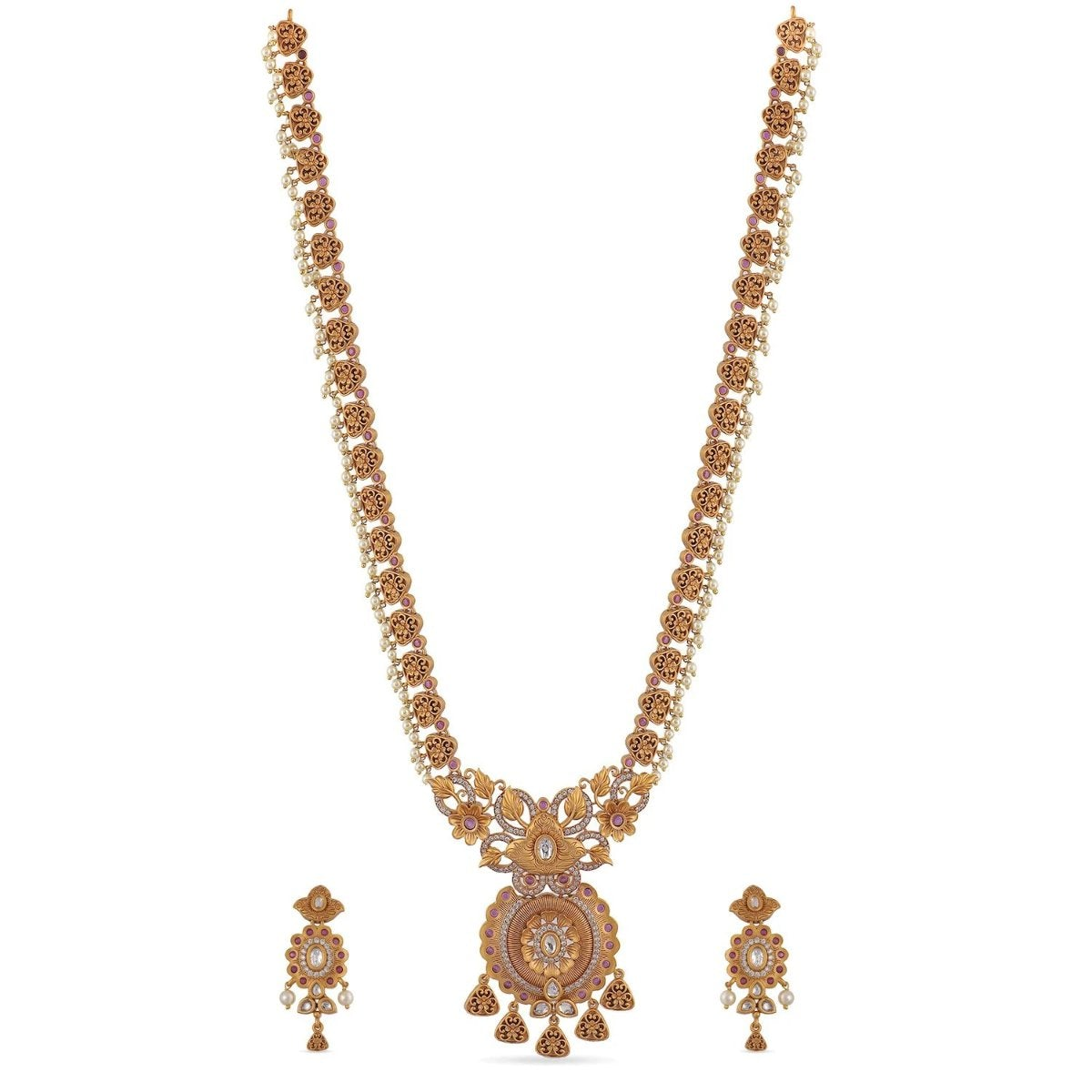 Chara Antique Long Necklace Set