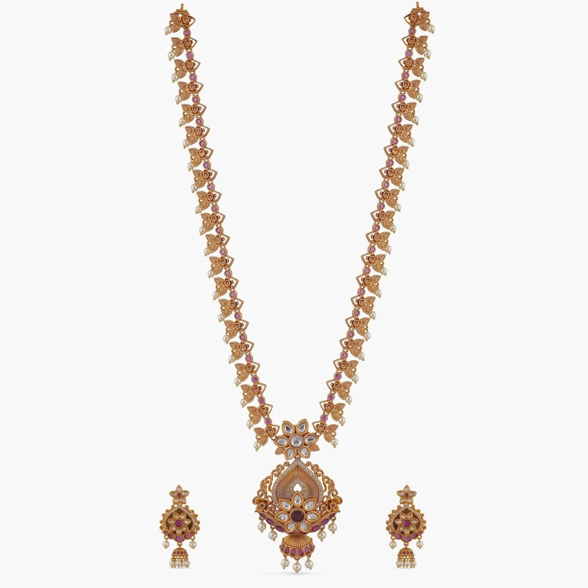 Pranavi Antique Long Necklace Set