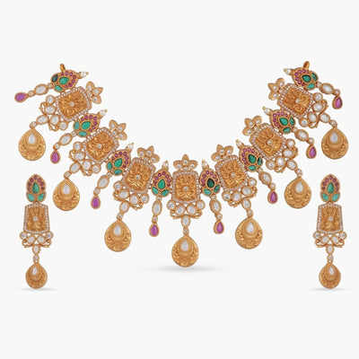 Miraya Antique Necklace Set by Tarinika