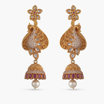 Liya Antique Jhumka Earrings