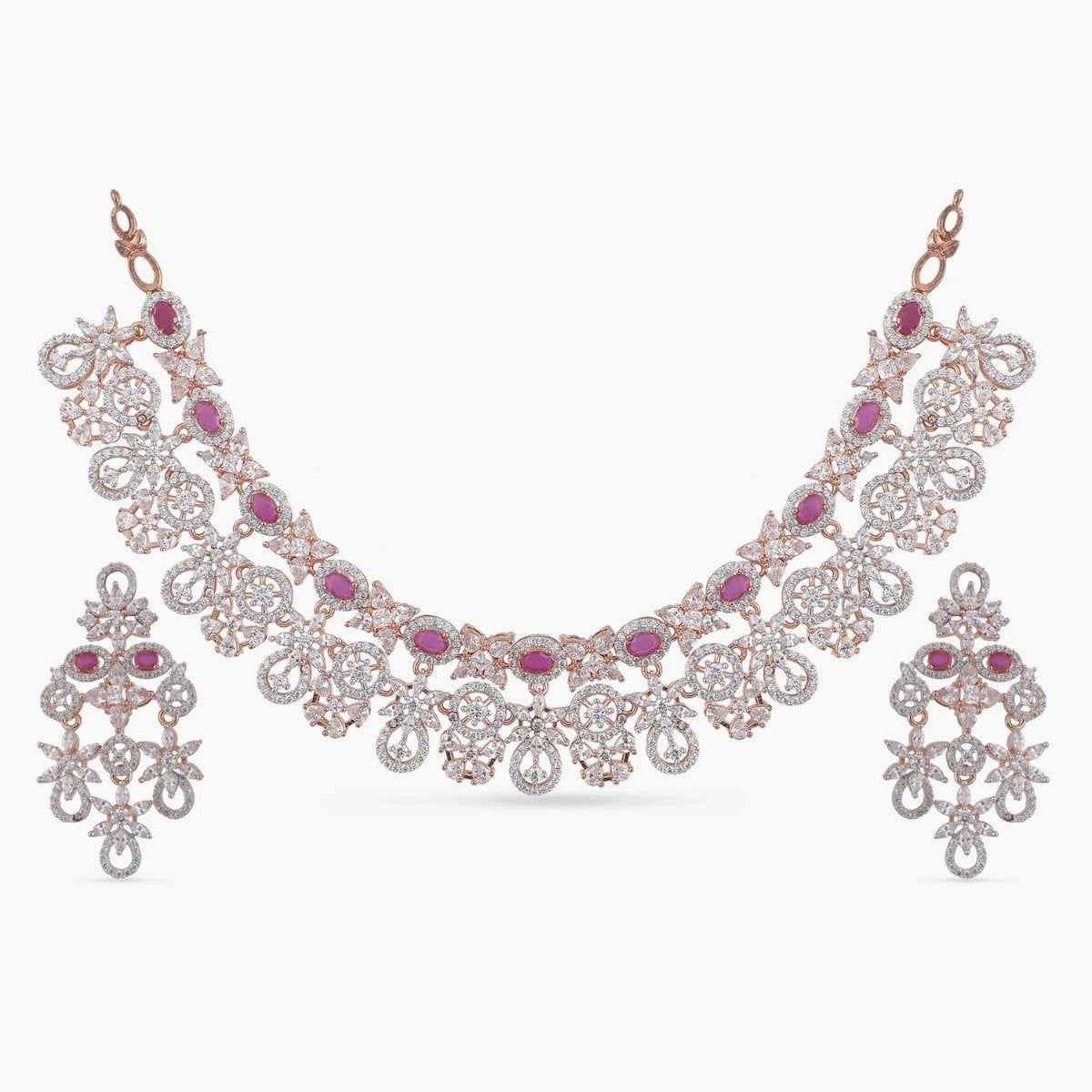 Abbey Nakshatra CZ Necklace Set