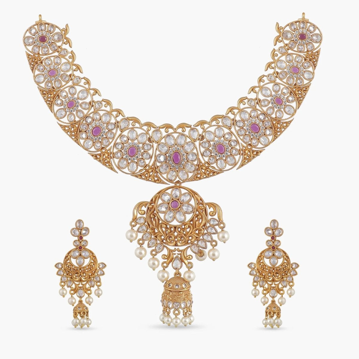 Srija Antique Necklace Set
