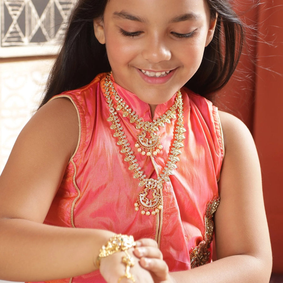 Mya Nakshatra CZ Kids Long Necklace