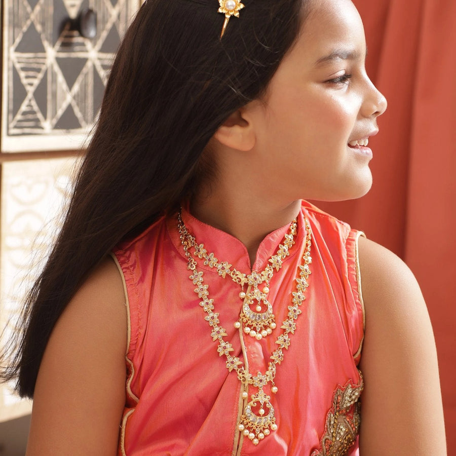 Alba Nakshatra CZ Kids Long Necklace