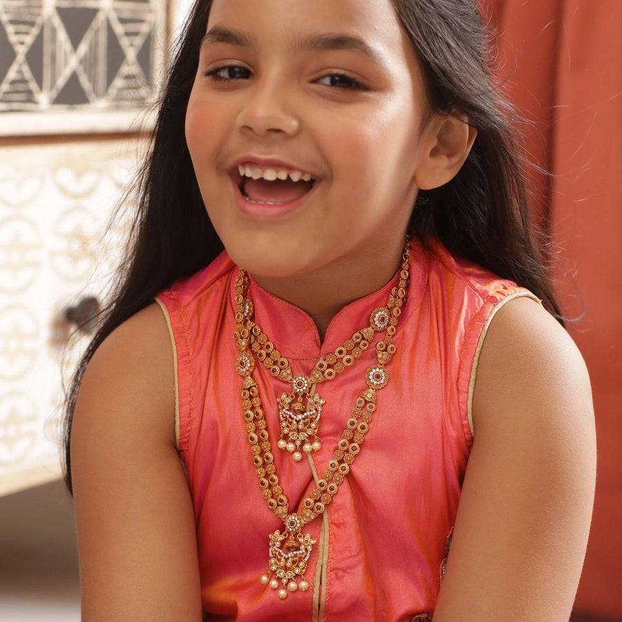 Akshara Kids Long Necklace by Tarinika