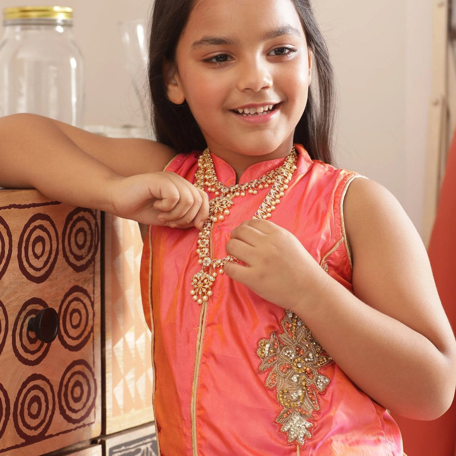 Aarohi Nakshatra CZ Kids Long Necklace
