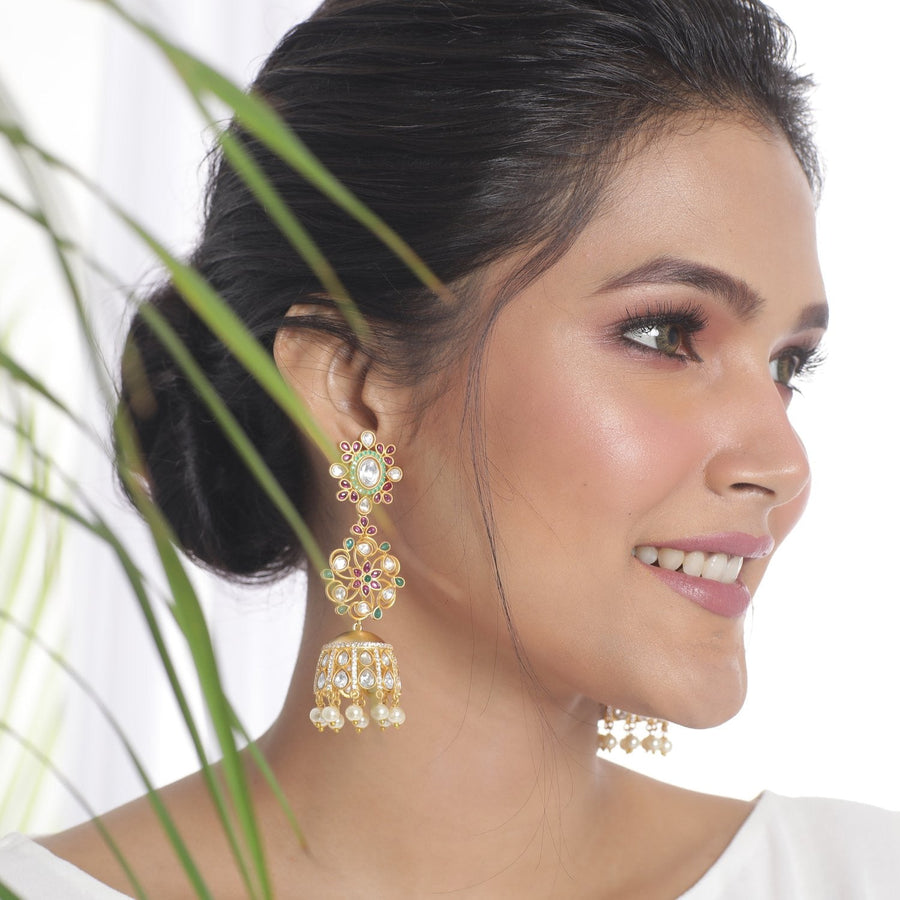 Aayat Jhumka Earrings by Tarinika