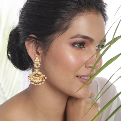 Jeevika Kundan Earrings