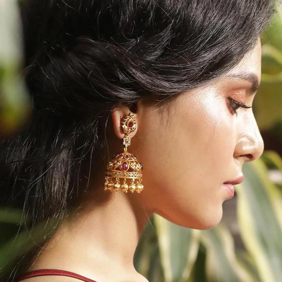 Yasmin Antique Jhumka Earrings