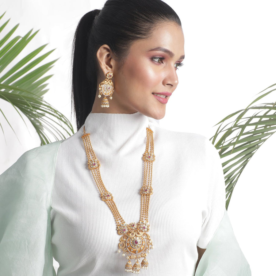 Nithya Antique Long Necklace Set