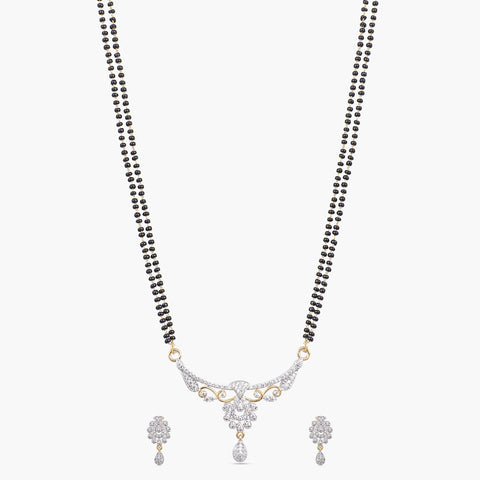 Risva Black Beads Necklace Set