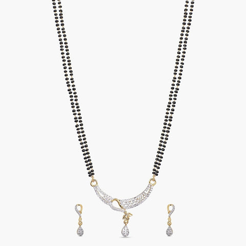 Priyam Black Beads Necklace Set
