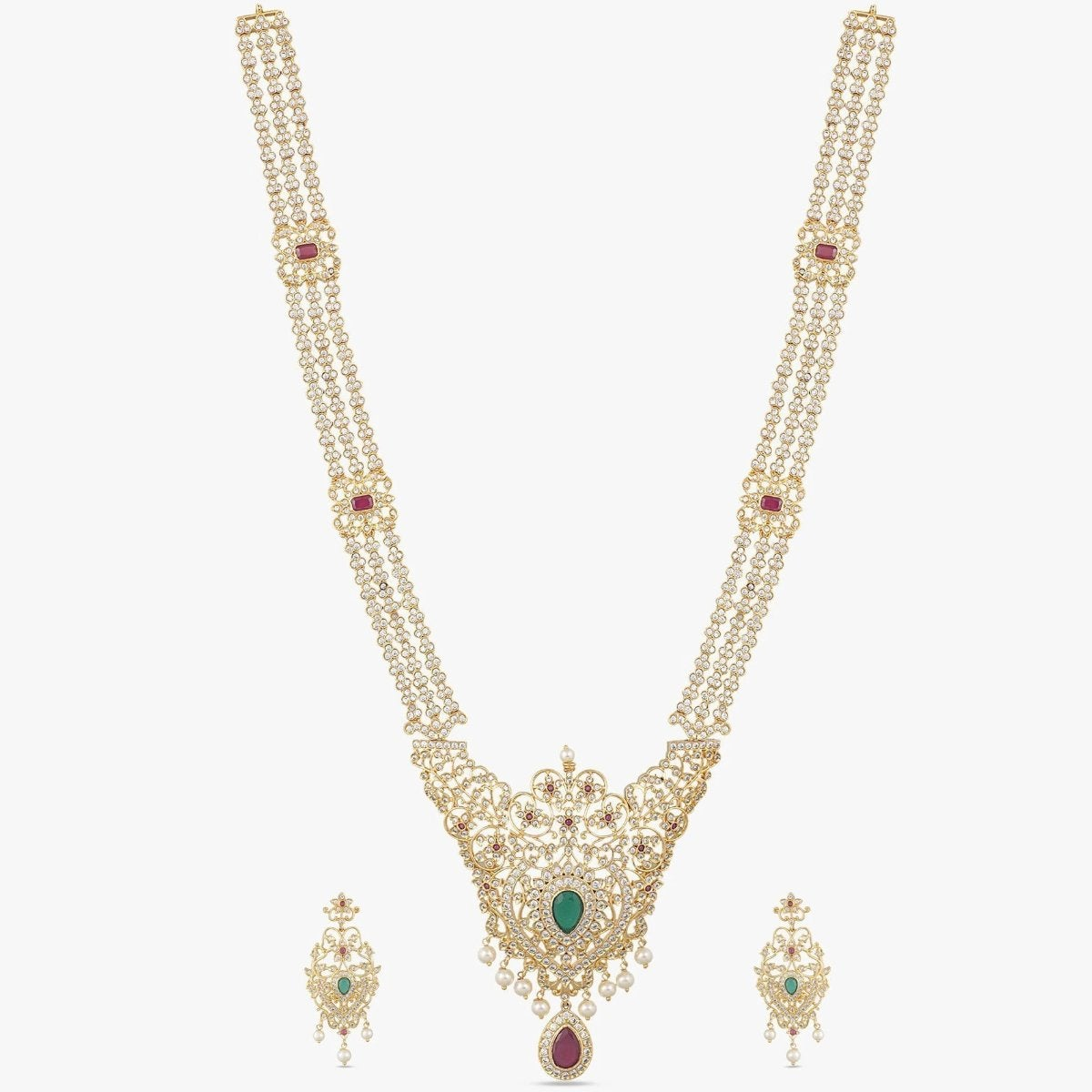 Isla Nakshatra CZ Long Necklace Set
