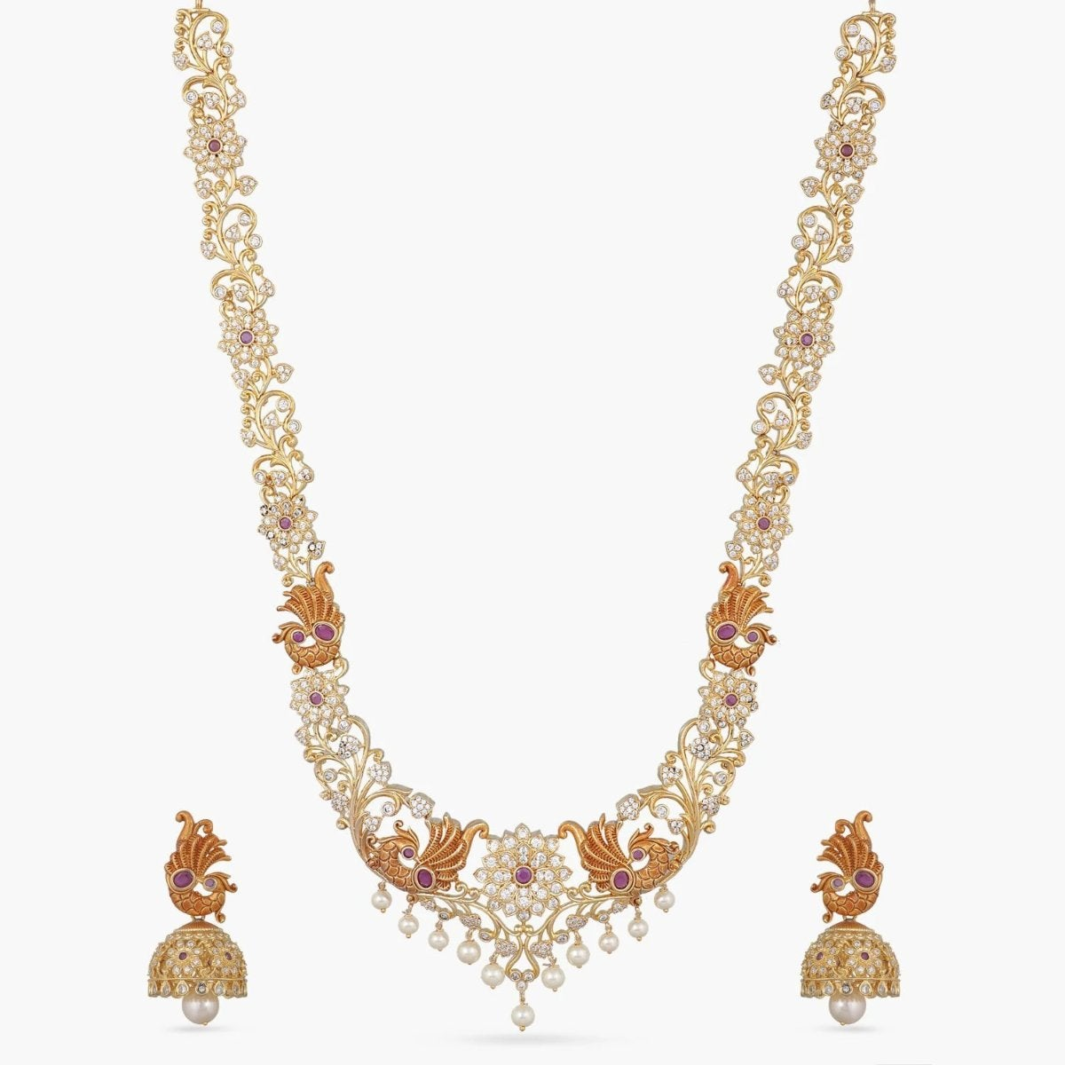 Suma Nakshatra CZ Long Necklace Set