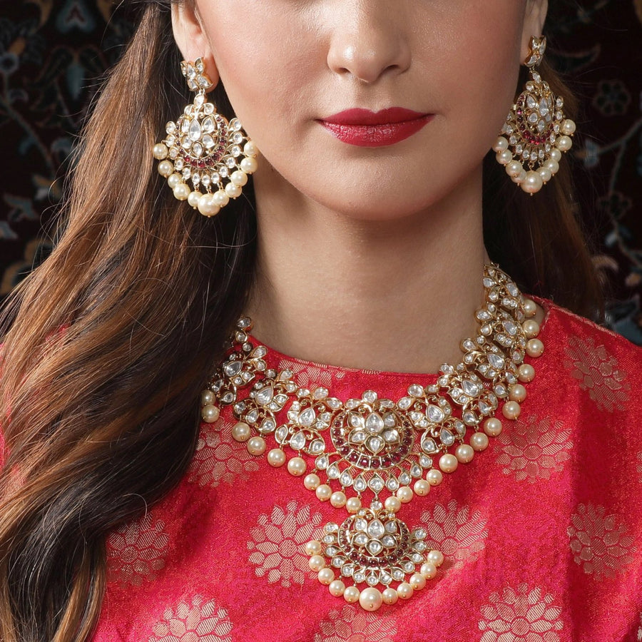 Amisha Kundan Necklace Set