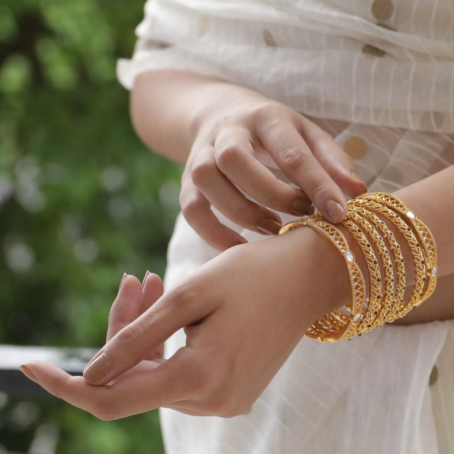 Ivy Antique Bangles by Tarinika