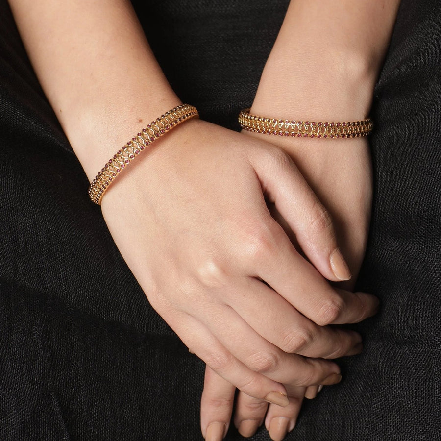 Sarah Antique Bangles by Tarinika