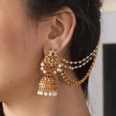 Juhi Antique Ear Chain