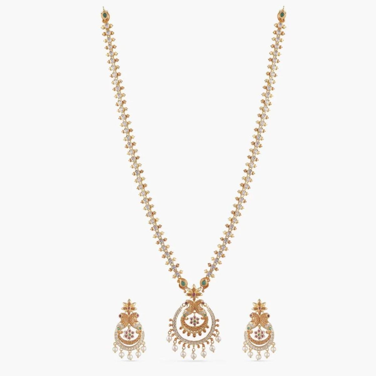 Hrida Nakshatra CZ Long Necklace Set