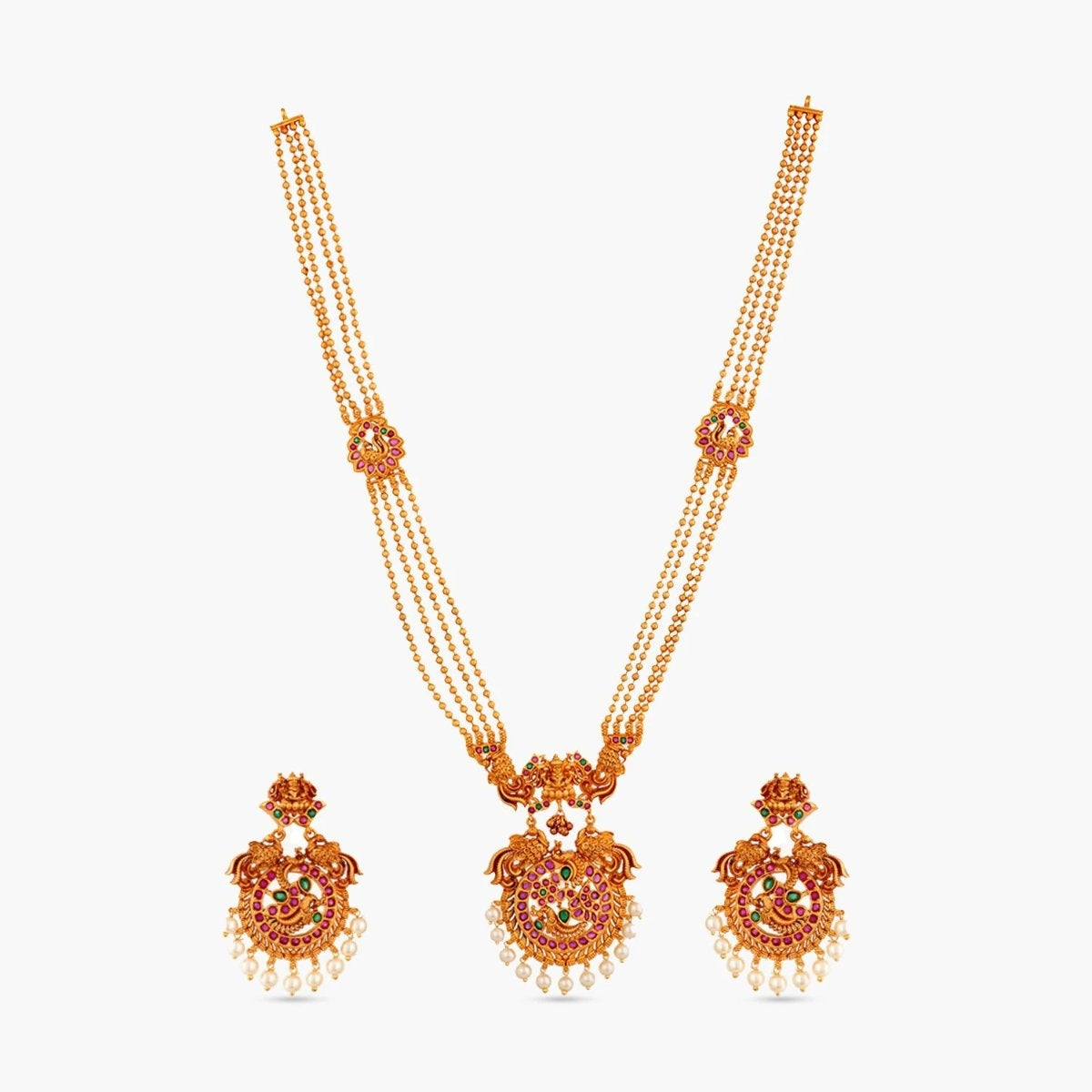 Anya Antique Long Necklace Set