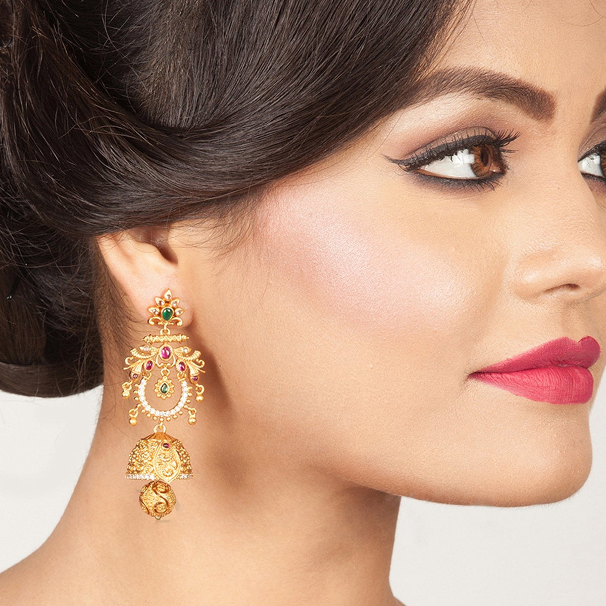 Pallav Antique Chandbali Earrings