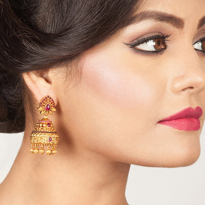 Balamani Antique Jhumka Earrings