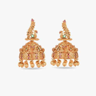 Hana Antique Jhumka Earrings by Tarinika