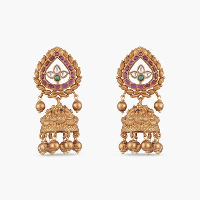 Bindu Antique Jhumka Earrings